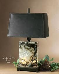 how about a masculine lamp for your bachelor pad faux leather shade rh pinterest co uk