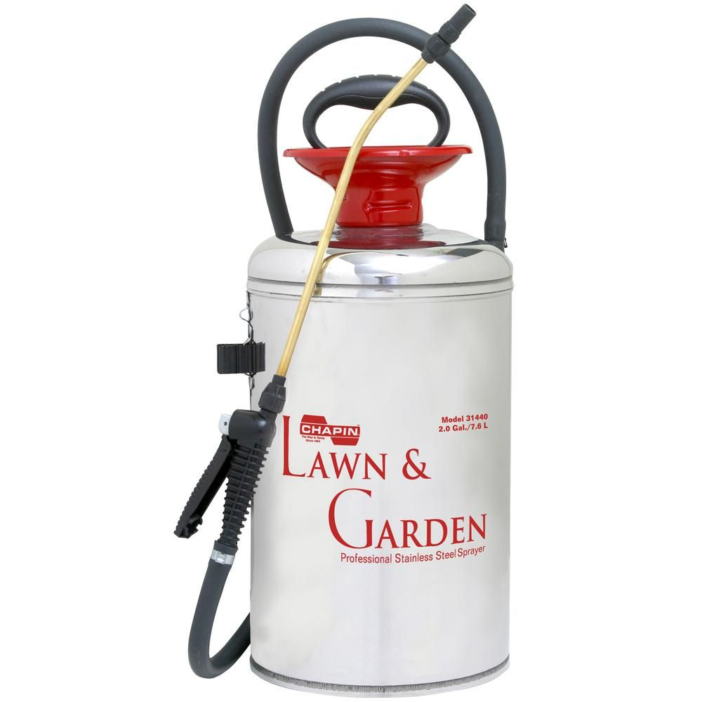 Chapin 2 Gal Lawn And Garden Series Stainless Steel Sprayer 31440 Lawn Garden Stainless Steel Tanks Lawn