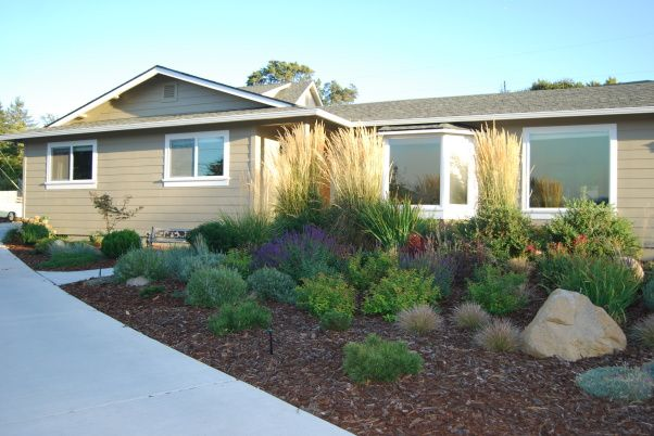 Remodeled ranch style home photos show a progression of for Garden design 1960s