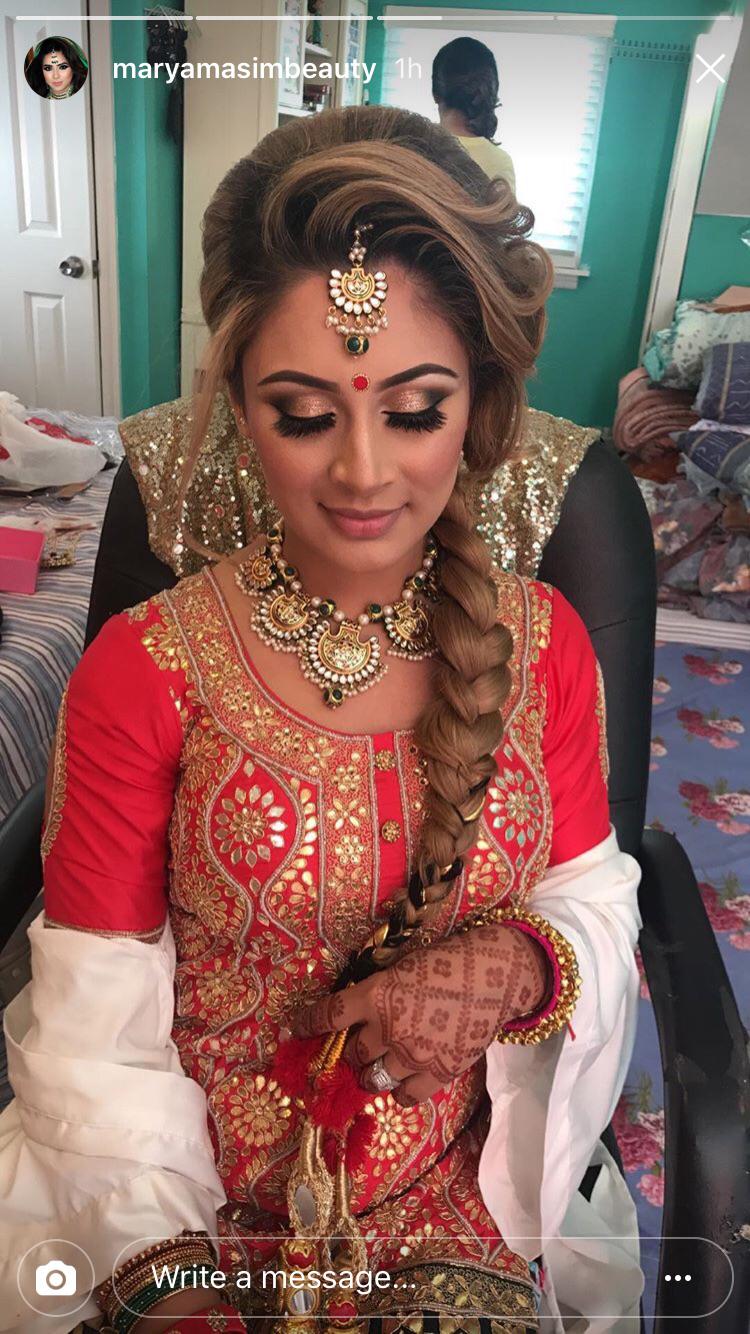 Bridal Braid For Mehndi Ceremony Wedding Hair Pinterest Bridal