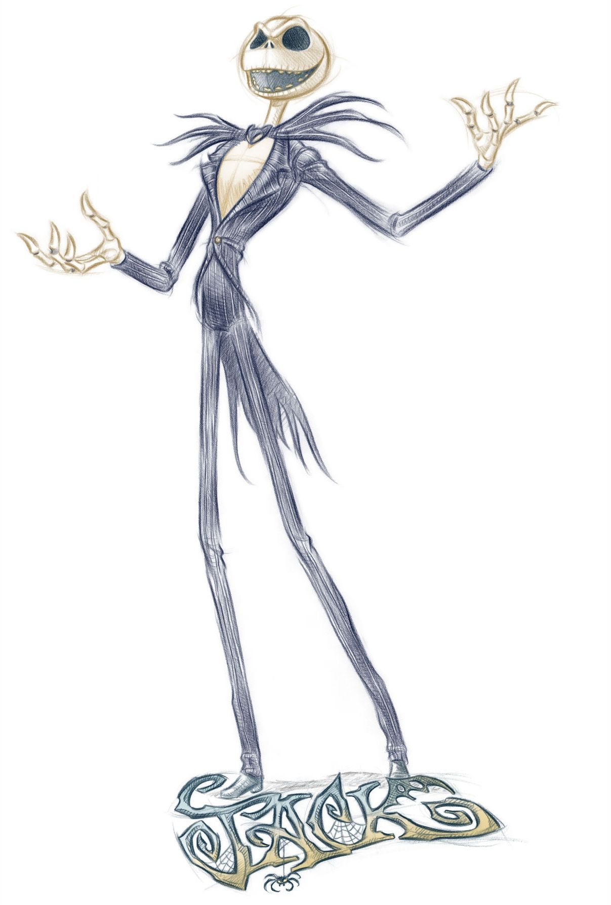 Jack By Pedro Astudillo Nightmare Before Christmas Drawings
