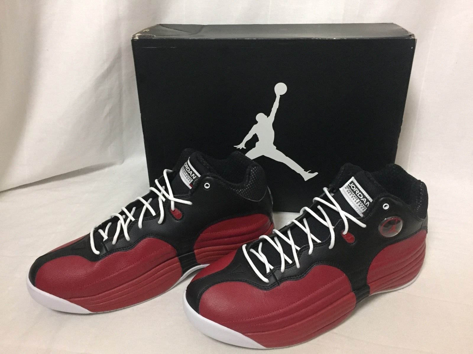 huge discount a61fb 13651 New Nike Air Jordan Jumpman Team 1 Basketball Shoes Sz 11.5 Red Black  644938 004