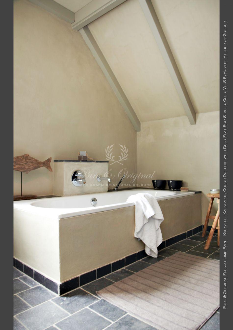 Pure Original Fresco Kalkverf in the bathroom - badkamer Color ...