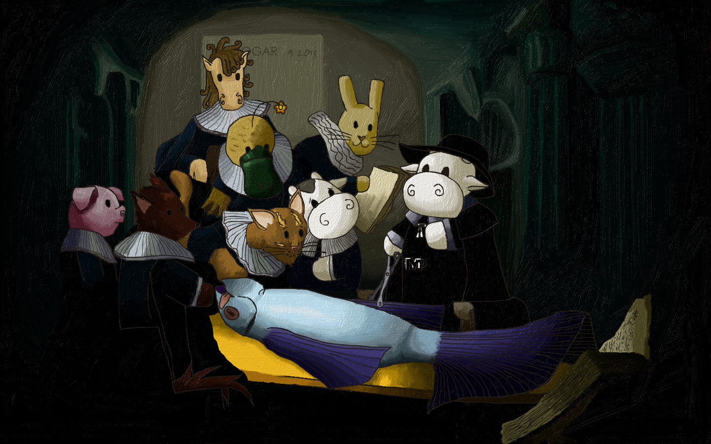 The Anatomy lesson of Dr. Moomie Cow by Jogar777 You can support my ...
