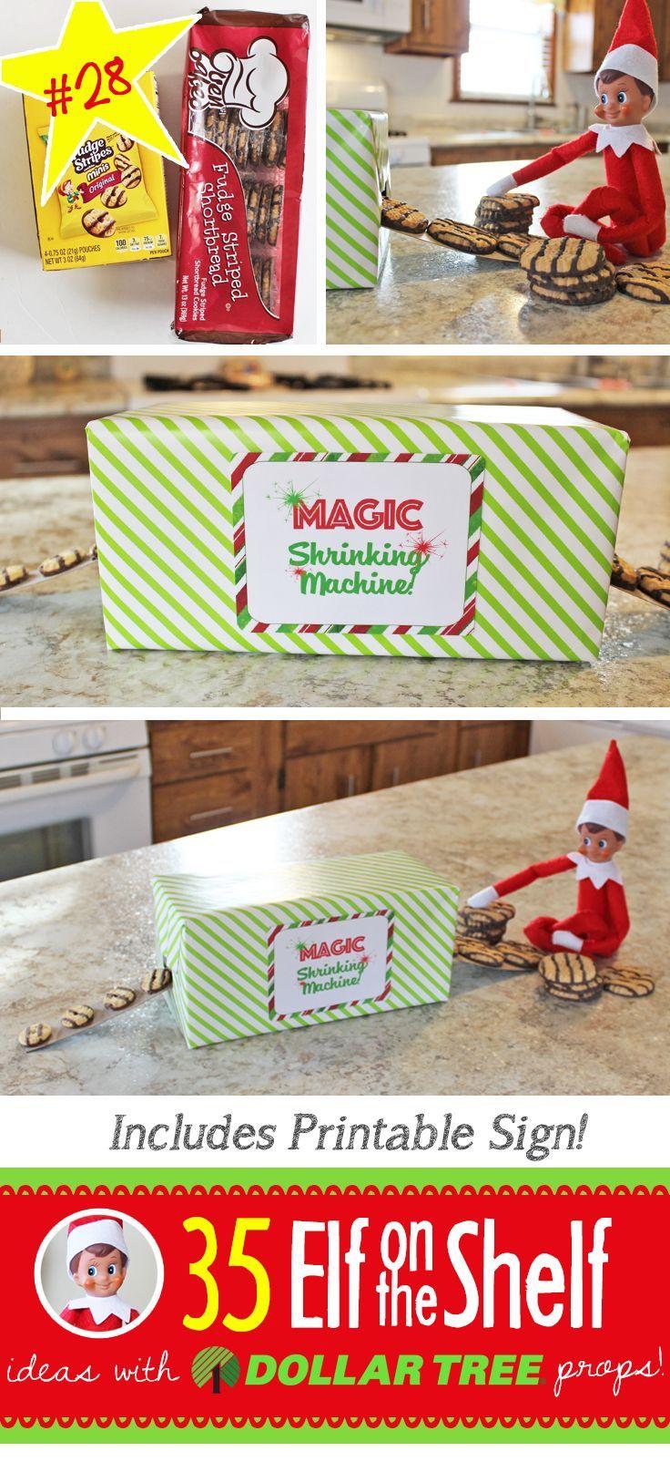 55+ New Elf on the Shelf Ideas: #28 Magic Shrinking Machine #easyelfontheshelfideaslastminute