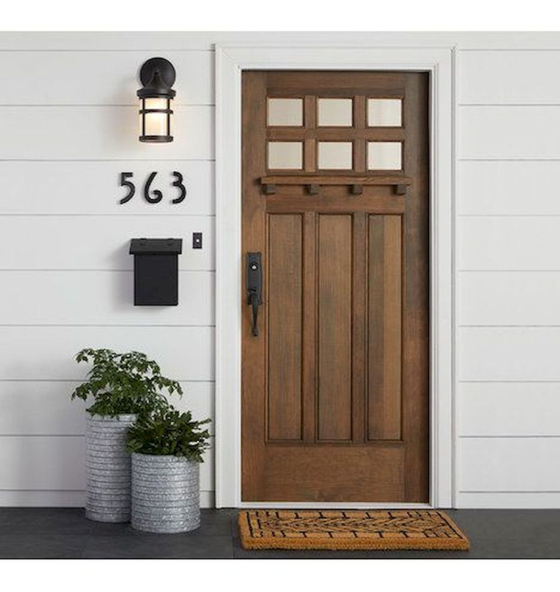 70 best modern farmhouse front door entrance design ideas