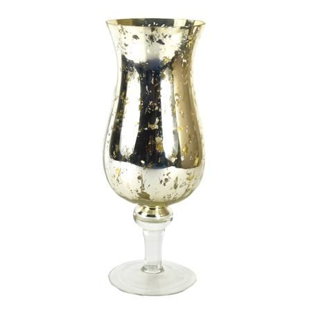 New Naturals Collection Mottled Glass Hurricane Vase Dunelm