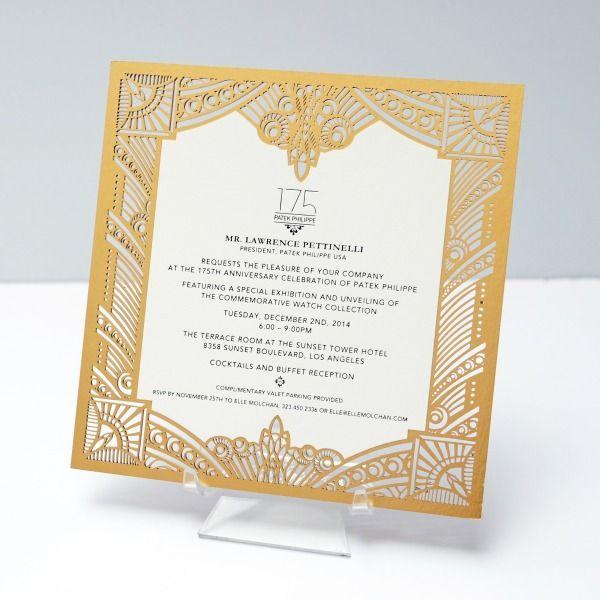 Patek Philippe 175th Anniversary Celebration Invitation by Ceci New - invitation unveiling