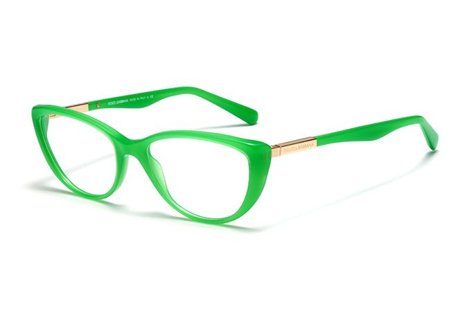 womens green acetate eyeglasses with cat eye frame by dolce gabbana dg 3155