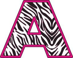 Printable Pink Zebra Print Letters
