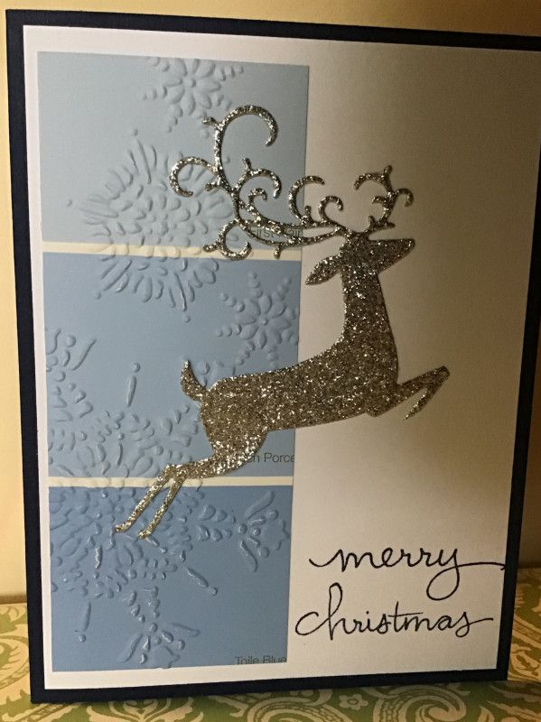 Detailed Deer Christmas Paint Chip card by NY2TX_Patti - Cards and Paper Crafts at Splitcoaststampers