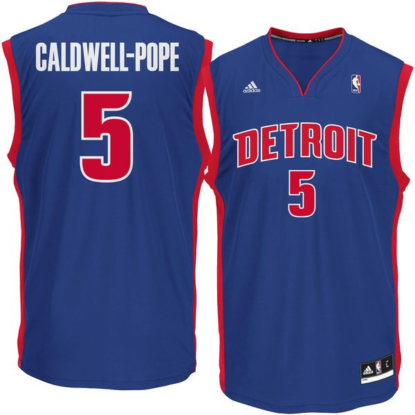 Mens Detroit Pistons Kentavious Caldwell-Pope adidas Blue Replica Jersey -  $55.99
