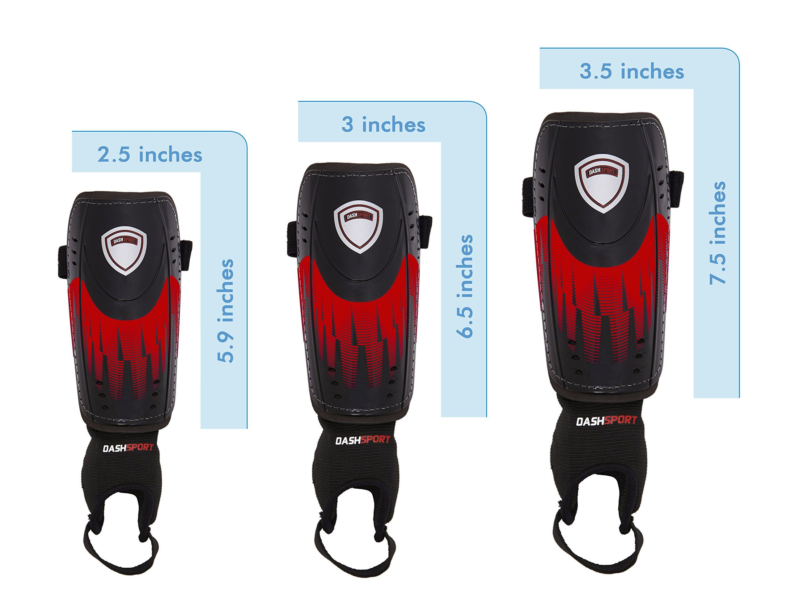 Soccer Shin Guards Youth Sizes By Dashsport Best Kids Soccer Equipment With Ankle Sleeves Great For Boys And Gir Kids Soccer Ankle Sleeve Soccer Shin Guards