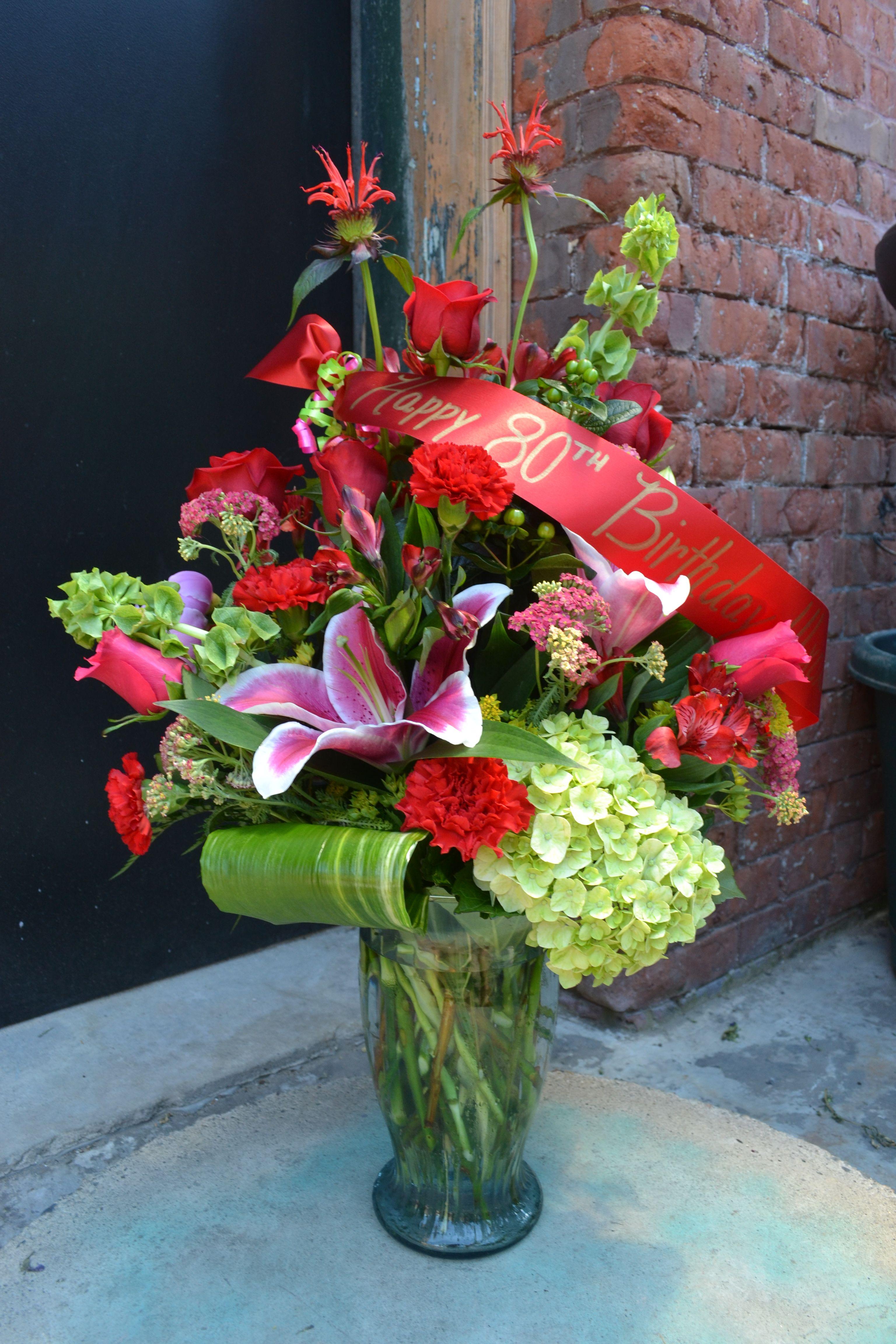 Birthday flowers for 80th birthday by terris flower shop in birthday flowers for 80th birthday by terris flower shop in naugatuck izmirmasajfo