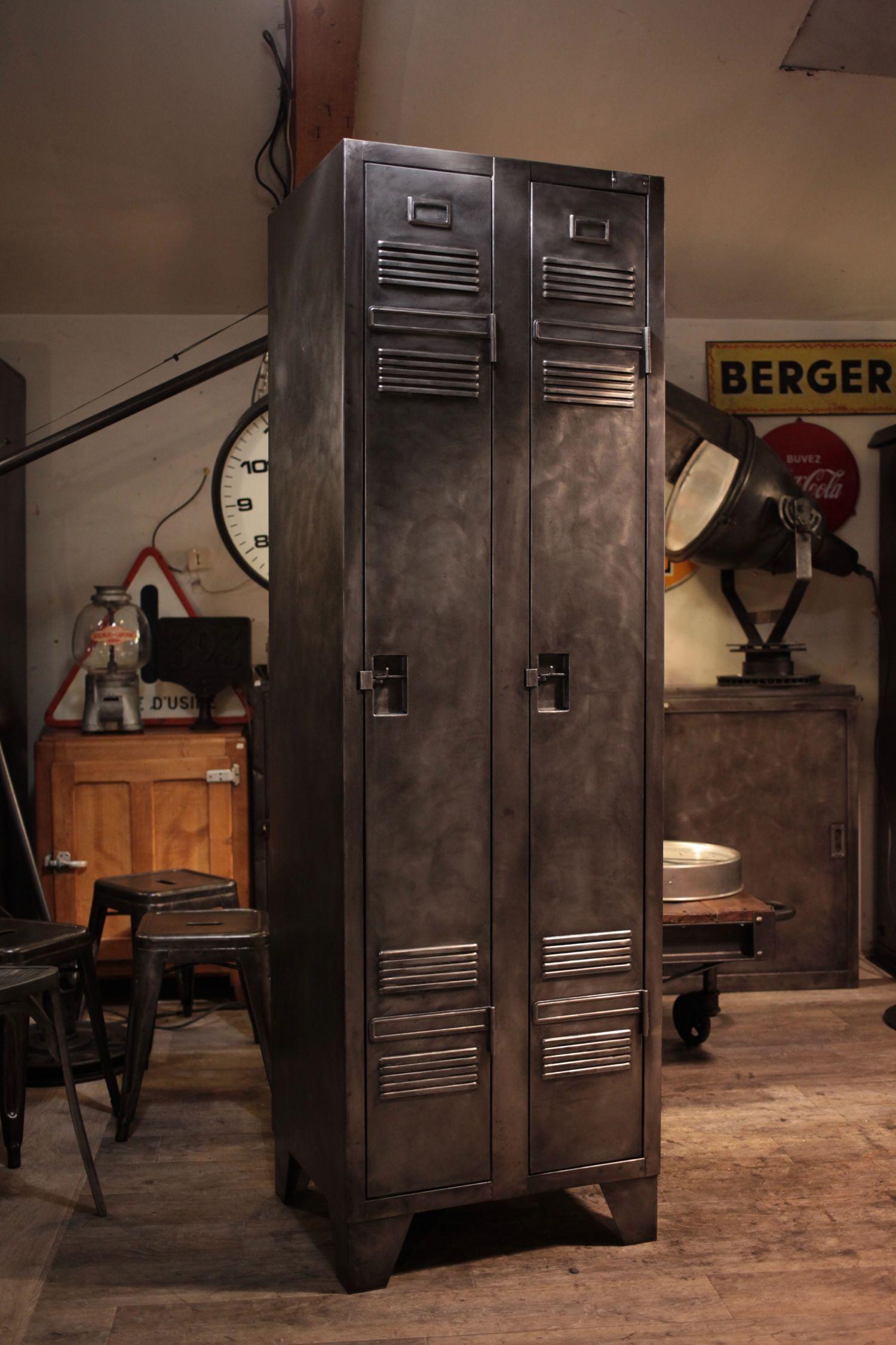 Meuble industriel vestiaire des ptt ancien deco loft industrial vintage meubles industriels - Meuble loft industriel ...