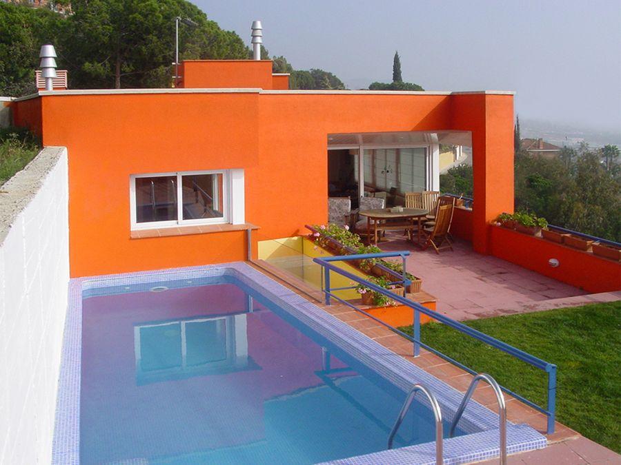 Tonos de naranja fachadas pinterest naranja y fachadas for Casa clasica procrear terminada