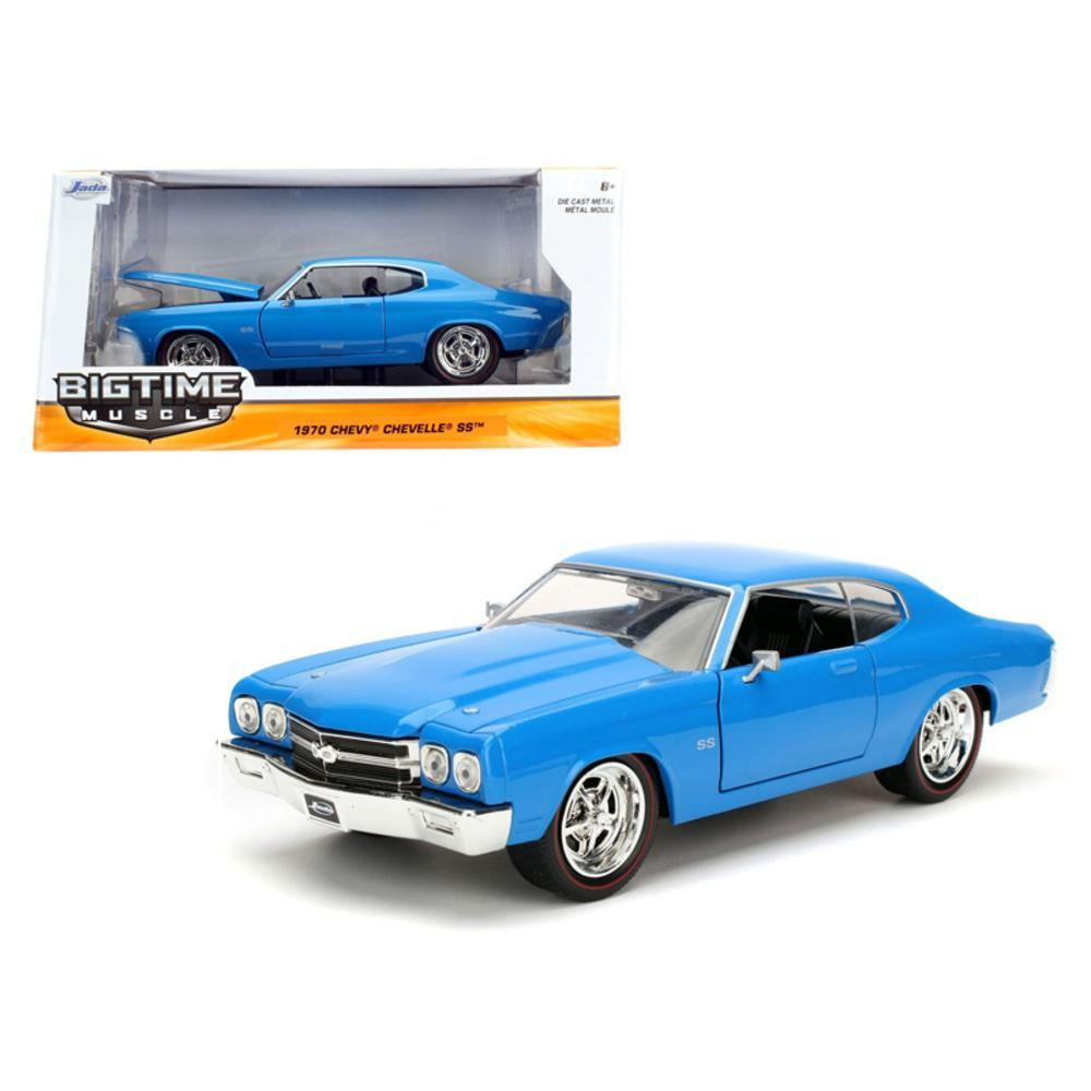 1970 Chevrolet Chevelle SS Blue 1-24 Diecast Model Car by Jada
