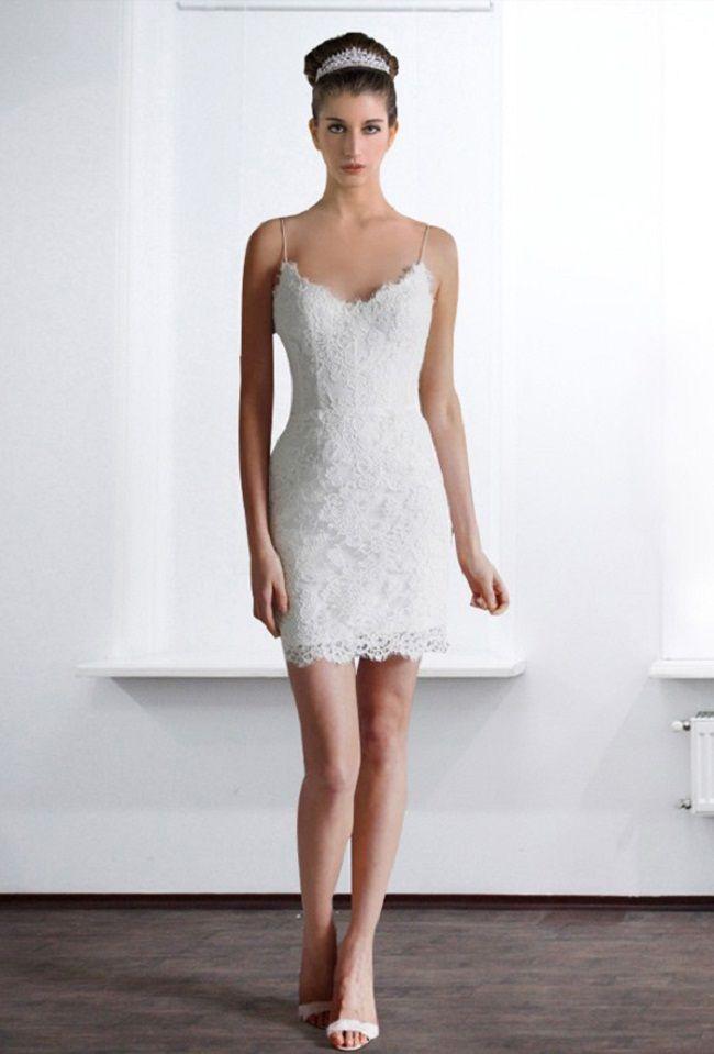 Short Lace Wedding Dresses 2013