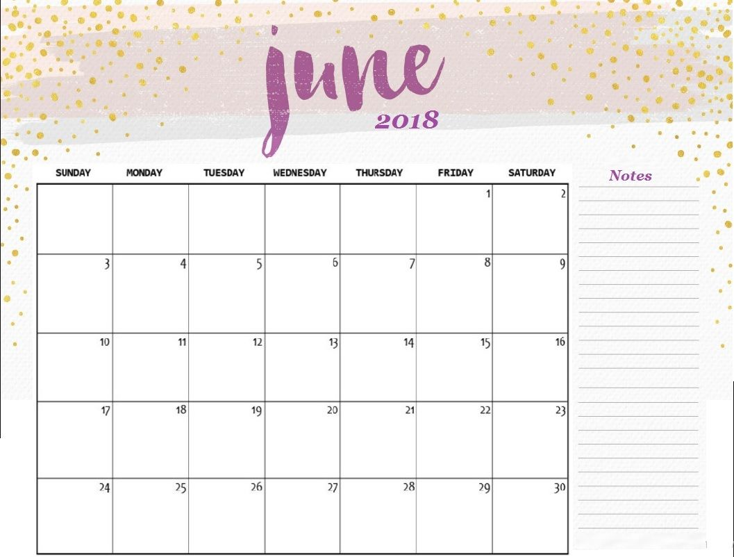 free june 2018 desk calendar template