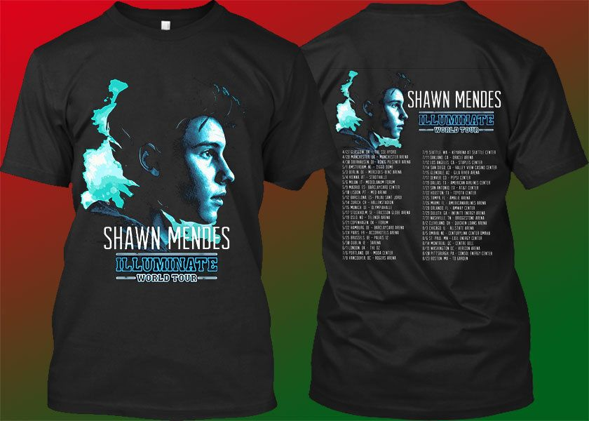 92d3512e7 shawn mendes shirt tshirt t-shirt clothing illuminate tour world 2017 o2l  magcon #Unbranded #GraphicTee