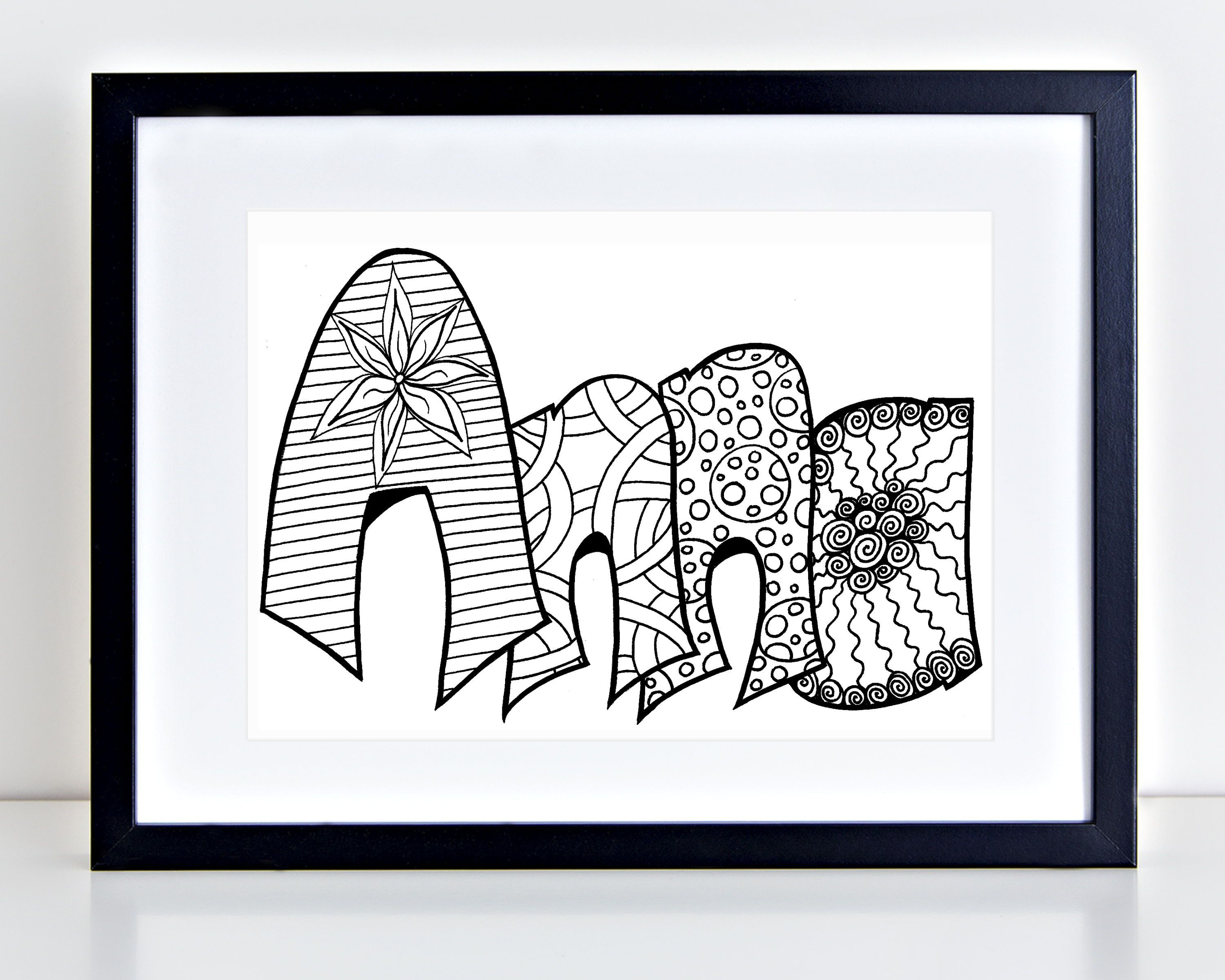 Digital custom coloring page purchase this item and include a