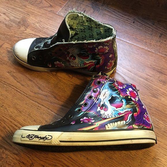 ed hardy high top sneakers