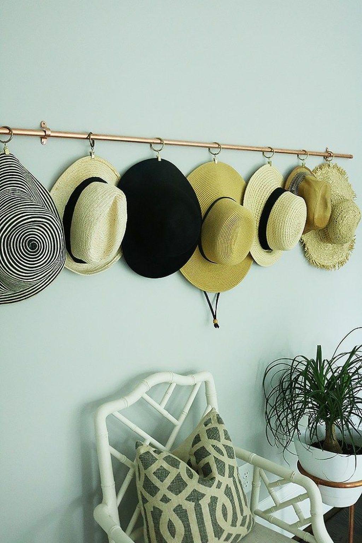 30 Brilliant Diy Rack Ideas For Your House Organization Diy Hat Rack Copper Diy Hat Rack