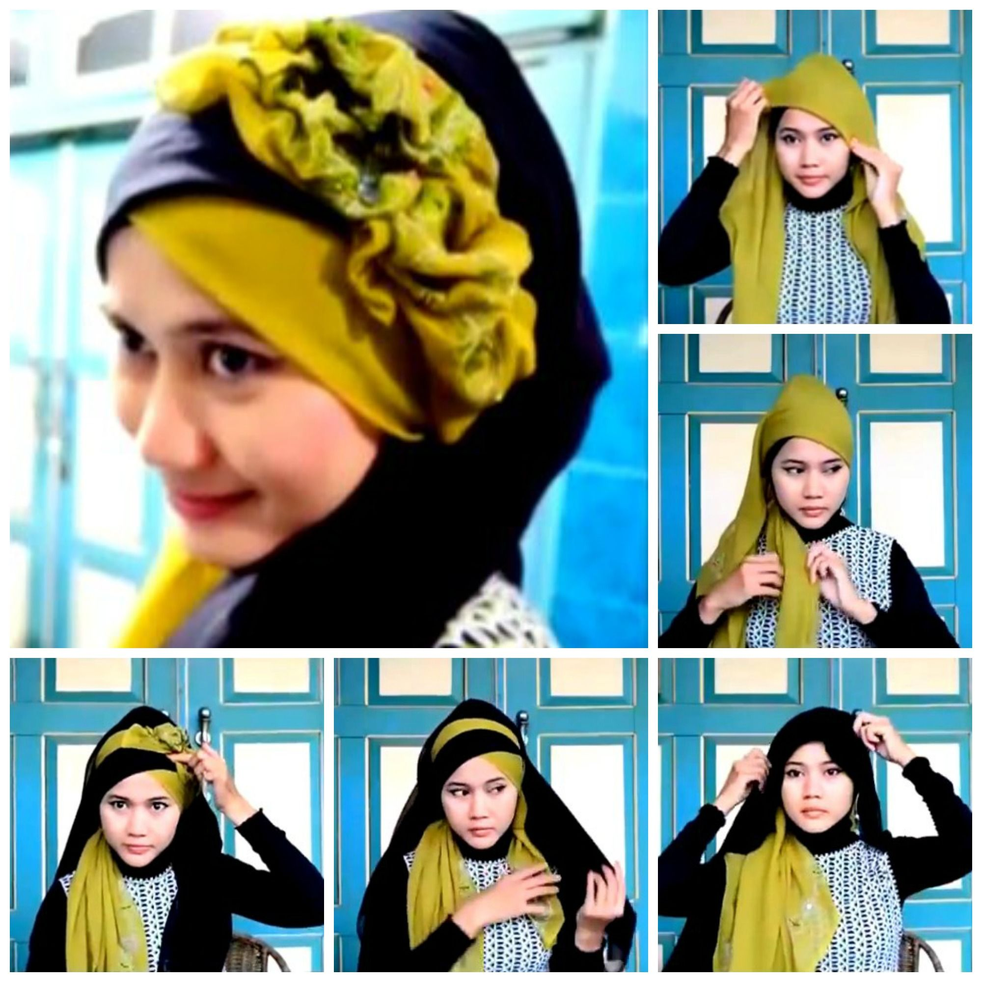 Tutorial Hijab Paris Pesta Dan Wisuda Kumpulan Hijab Dan