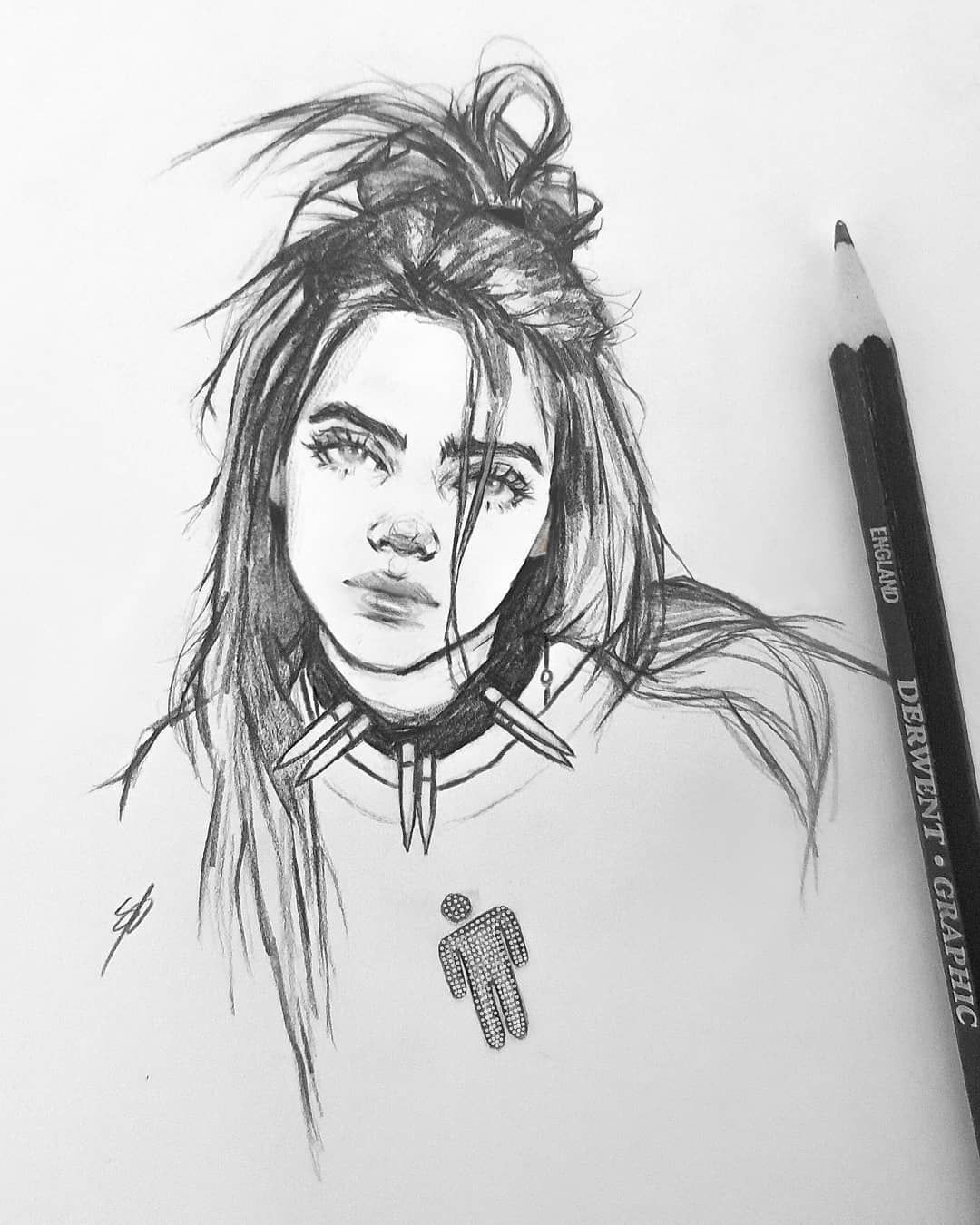 Nikki On Instagram Oops I Drew Billie Again Billieeilish