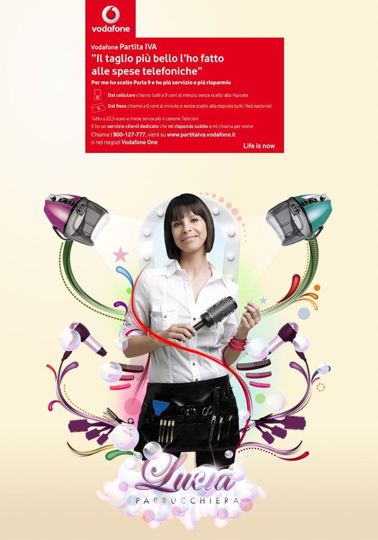 2011 Vodafone Campaign Graphic Designer Pietro Carretta Agency Mccann Erickson Piu Piu
