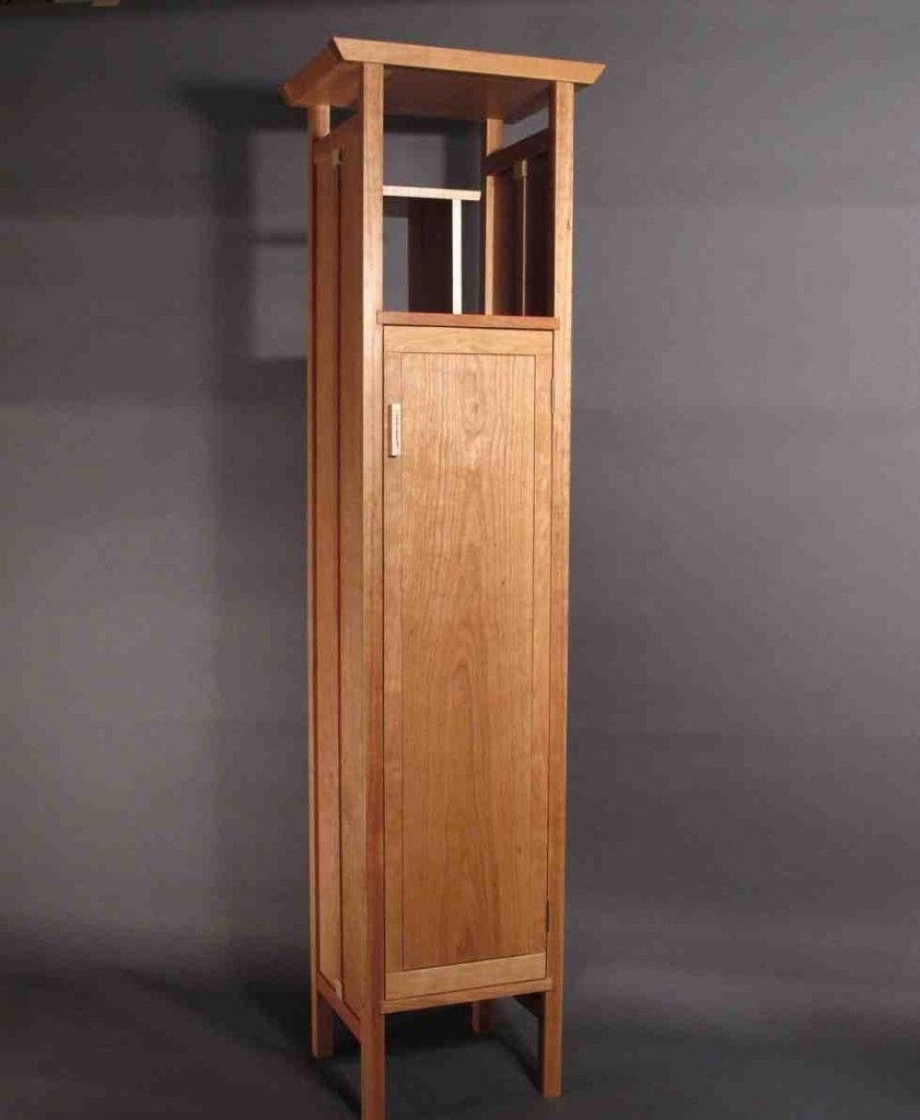 Tall Narrow Armoire Custom Wood Furniture Linen Cabinet Modern Linens
