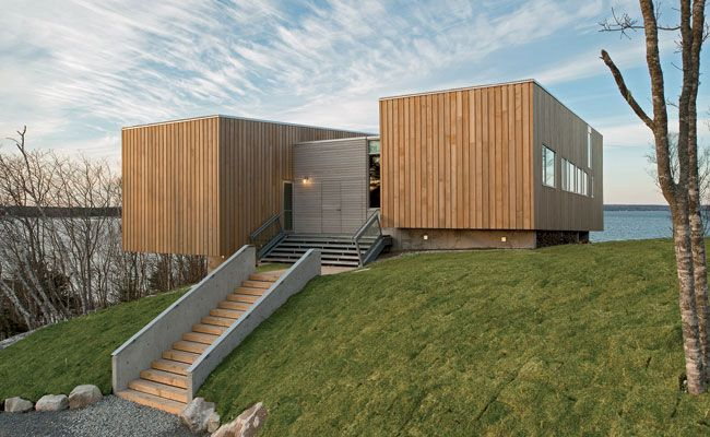 Two Hulls House Mackay Lyons Sweetapple Ideasgn Interior Costero Salones De Estar Costeros Casas