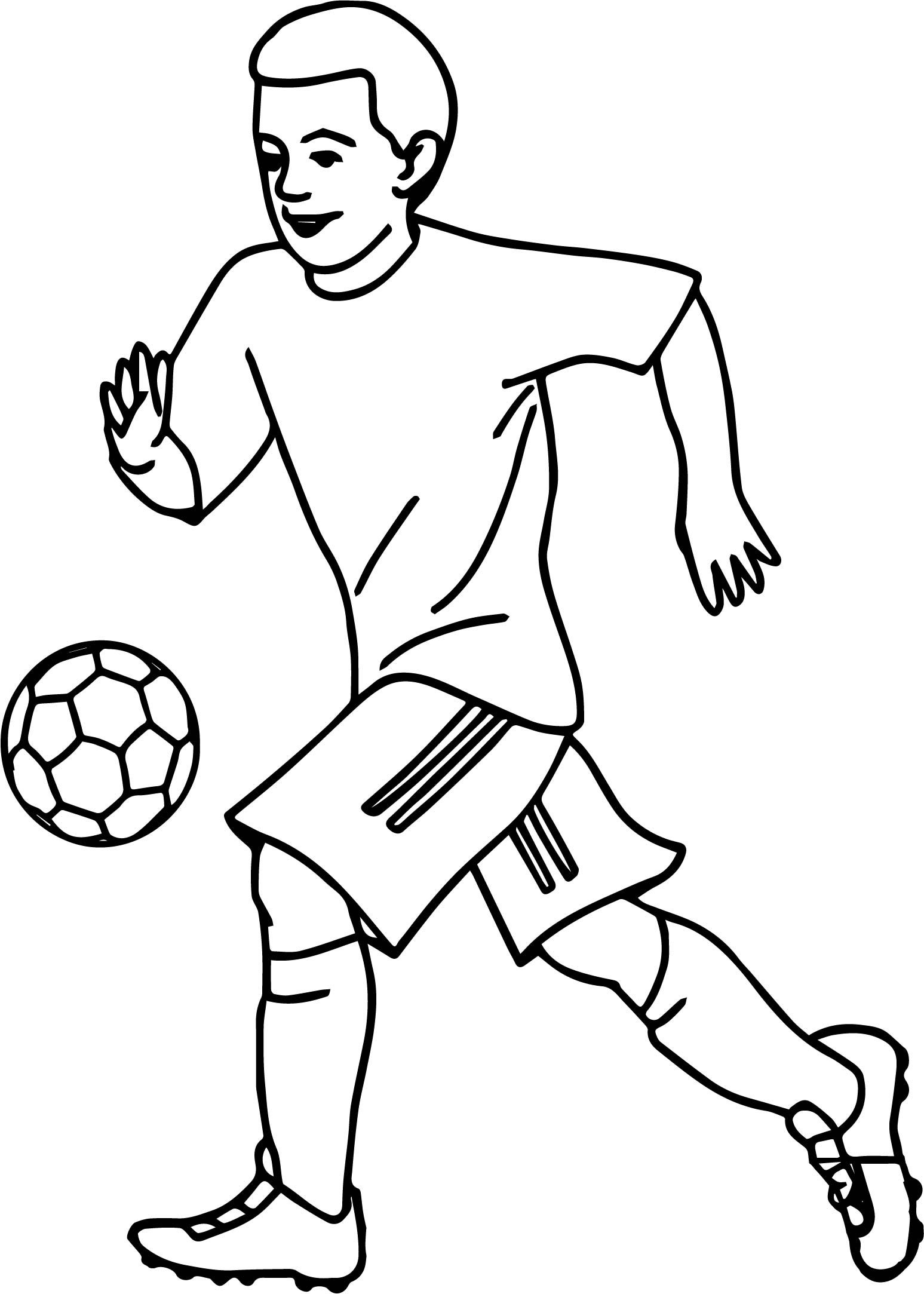 Awesome Soccer Sports Playing Football Coloring Page Football