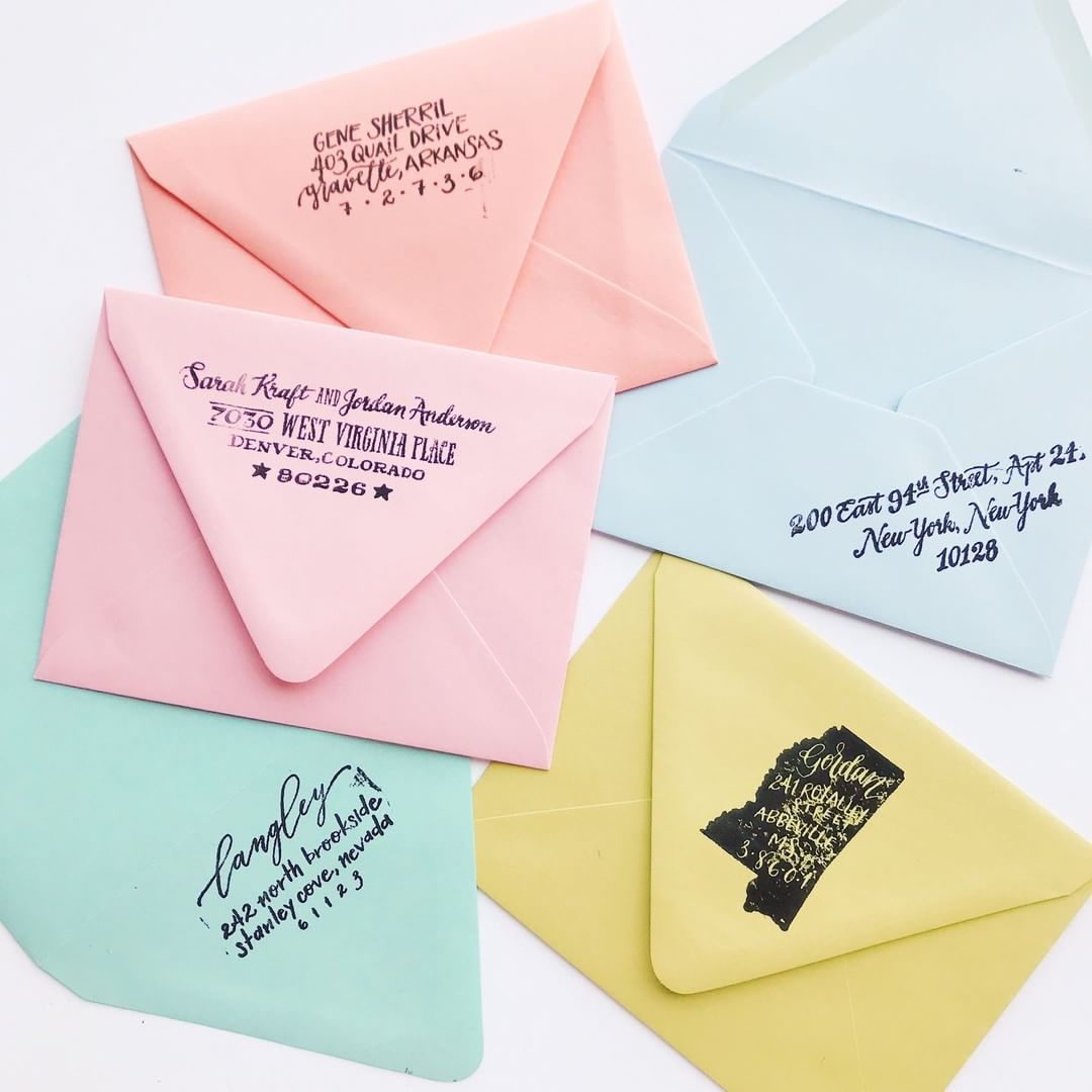 New custom return address stamps that are the cutest things you\'ve ...