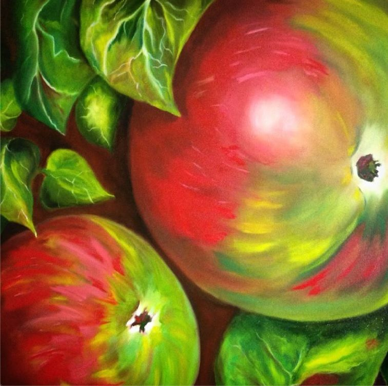 Apples - 3' X 3' Gallery Wrapped Oil on Canvas - 2015