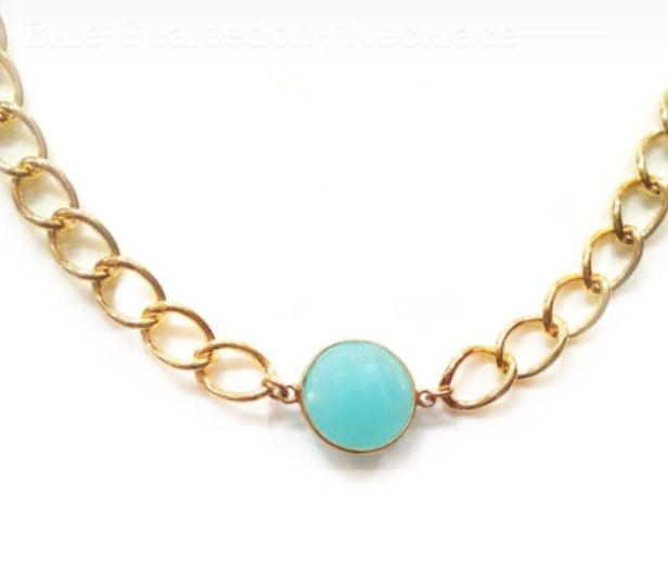 Blue Chalcedony Necklace. $65 Style Number 50112S