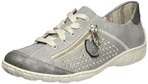 Rieker 42427, Damen Sneakers, Silber (altsilber/90), 38 EU (5 Damen UK)