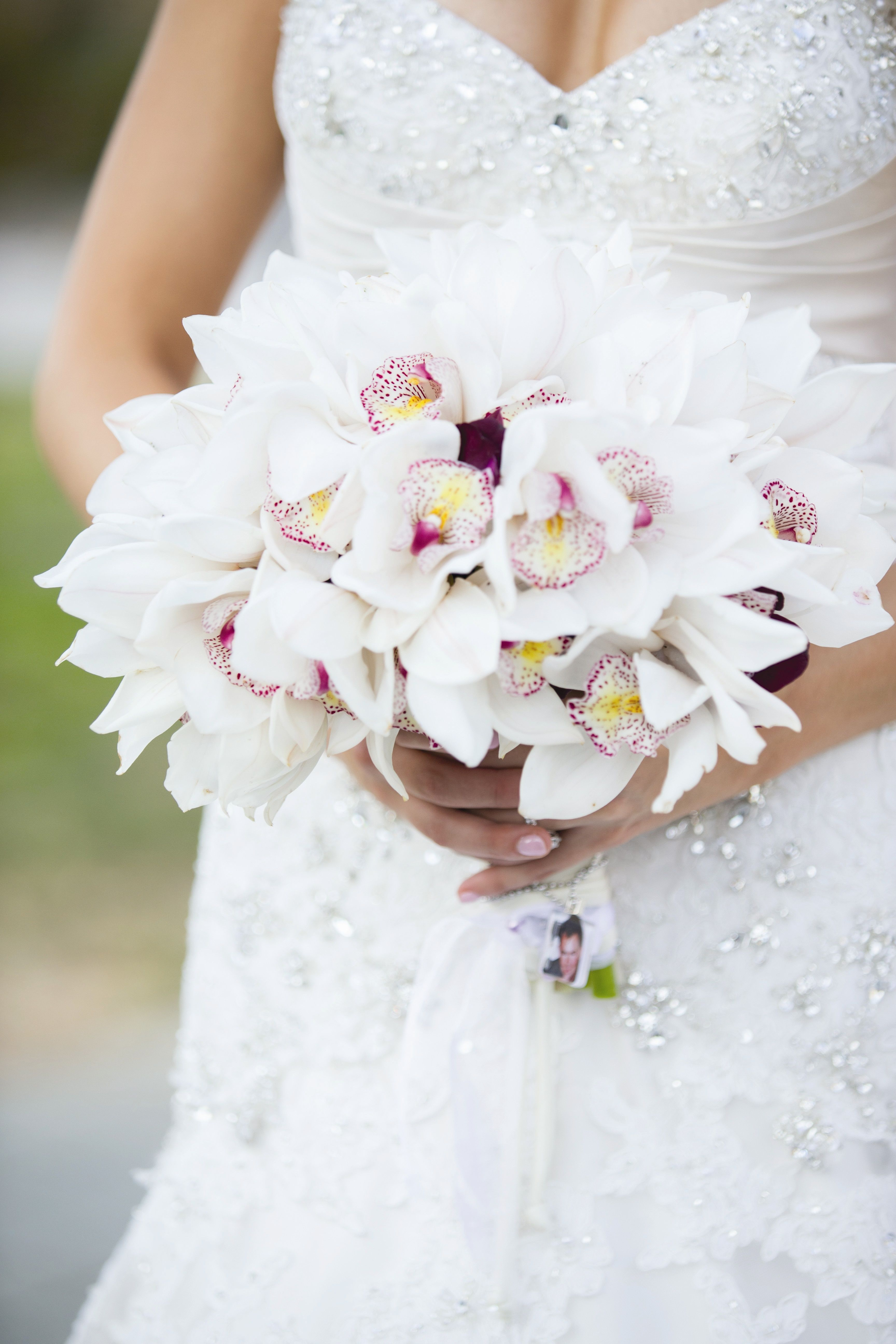White Orchid Bridal Bouquet We This Moncheribridals