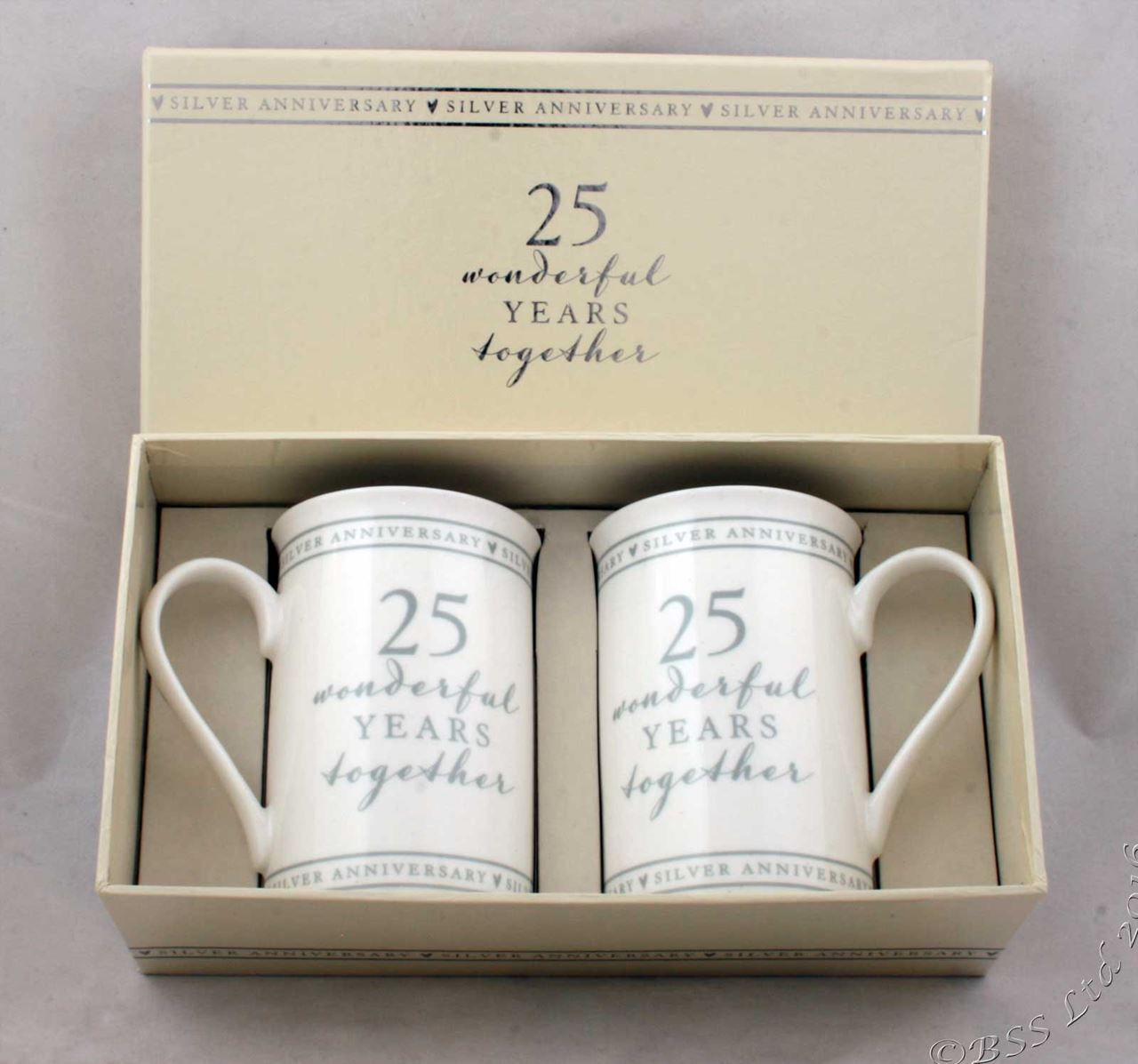 Gift For 25 Wedding Anniversary: Show Details For 25th Anniversary Gift Set Of 2 China Mugs