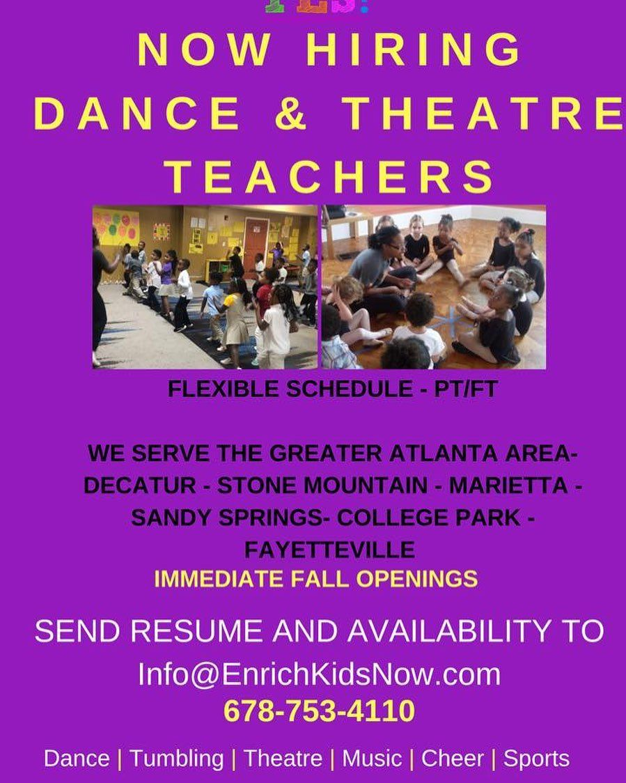 Job Seekers NOW HIRING Looking for Dance Instructors