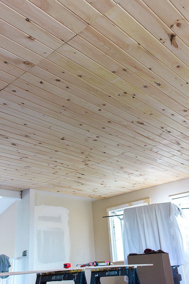 Kitchen Chronicles Diy Tongue And Groove Plank Ceiling Wood Plank Ceiling Tongue And Groove Ceiling Plank Ceiling