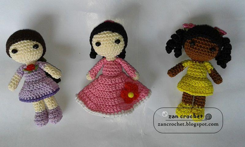 Cute Little Girl Amigurumi Crochet Kit Handmade Stuffed Doll 15cm ... | 481x800
