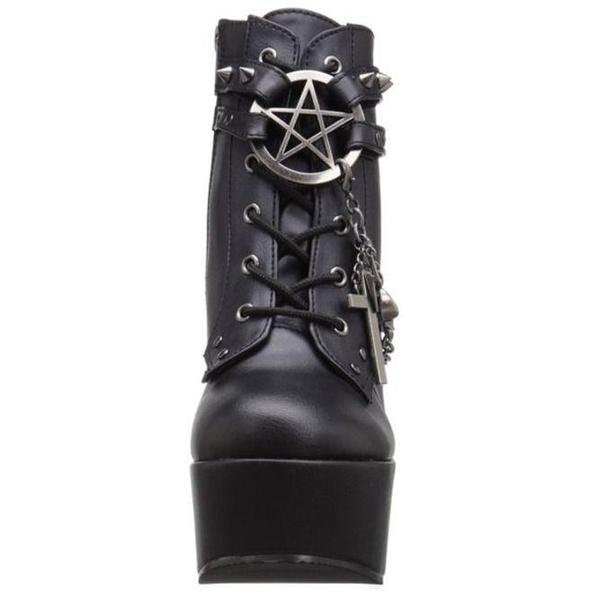 Darkly Charmed Platform Ankle Boots | $172 (Demonia Poison)