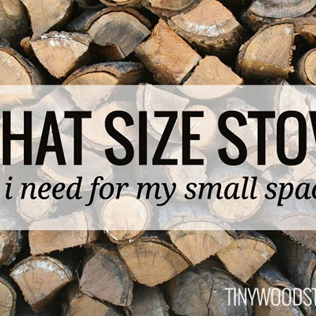 Are you ready to buy a stove, but unsure of what size you need to heat your small space? Check out our article on how to fit a stove to your space! (link in profile)