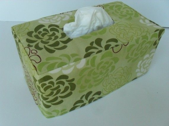 Cute tissue box holders from :Head To Toe: on Etsy
