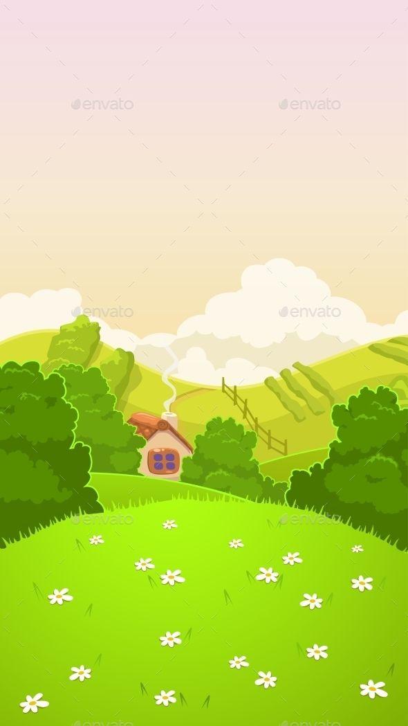 Cartoon Nature Country Landscape Landscape Background Animation Background Country Landscaping