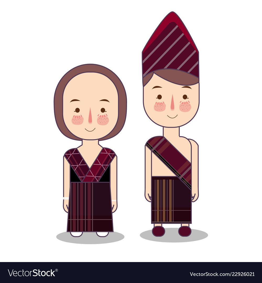 Pakaian Adat Lombok Kartun