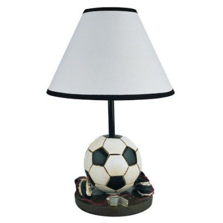 Amazon Com Soccer Table Lamp Girls Boys Kids Room Decorative