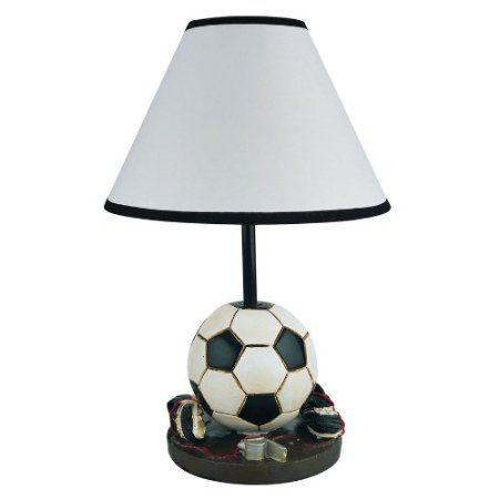 Amazon Com Soccer Table Lamp Girls Boys Kids Room Decorative Light