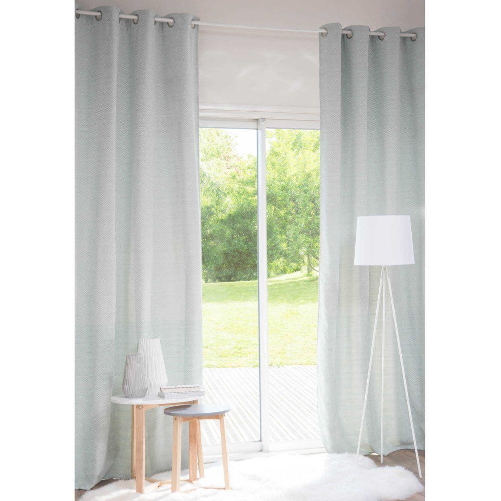 Rideau à œillets bleu 140x270   Ma chambre cosy parfaite   Pinterest ...